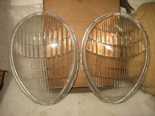 1939 FORD DELUXE HEADLIGHT LENSES ORIGINAL VINTAGE 91A-13060 NOS PAIR