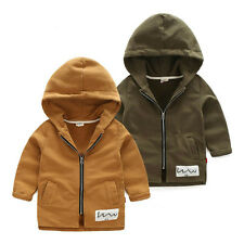 NWT Kids Baby Toddler Boys zipper Hooded Outerwear Jacket autumn spring Clothes