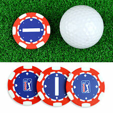 3Pack PGA Tour Poker Chips Golf Ball Markers Putting Alignment Aid Gambling Gift