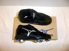 Mizuno Youth Franchise G3 Mid Youth Baseball Cleats NIB Black/Silver FB67MBK