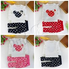 Toddler Infant Girls Outfits Minnie coat + Polka Dots pants Kids Clothes Set