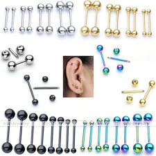 16G 6mm-16mm Bar Steel Eyebrow Nose Lip Tongue Nipple Helix Tragus Earring Studs