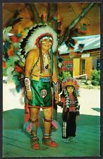 HOPI INDIAN CHIEFTAIN SMILING BEAR Indian Village Lake George NY Indian Postcard