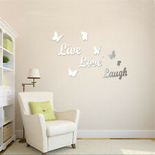 Butterfly Mirror Effect Wall Sticker Acrylic Room Decor Removable Vinyl Art 1pc