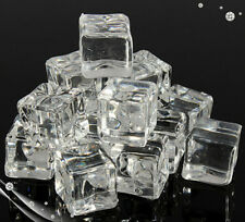 20pcs Artificial Acrylic Wedding Party Display AIce Cubes Crystal Clear Decorate