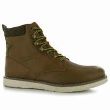 Soviet Mens Anzhi Tall Smart Boots Casual Lace Up Flat Sole Ankle High Shoes