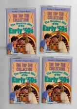 "Reader's Digest Sealed 4 Cassettes ""Greatest Hits of the Early 50's"" Top 10"