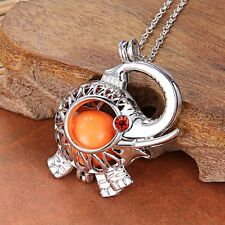 Lovely Elephant Angel caller sound bell harmony Locket Pendant pregnant Necklace