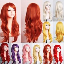 Fancy Halloween Cosplay Wig 80/100CM Straight Curly Wave Costume Full Wigs hhs7s