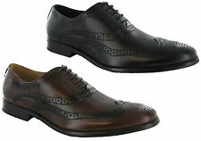 Goor Oxford Brogue Lace Up Leather Lined Mens Formal Shoes Boots UK6-12