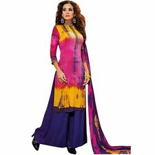 Bollywood Tie Dye Salwar Kameez with Palazzo Pants- Embroidered-Cocktail-1501