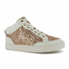 Firetrap Womens Joy Hi Top Trainers Lace Up Fashion Ankle Glitter Panels Shoes