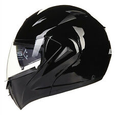 DOT Dual Visor Flip Up Motorcycle Helmet Headwear Full Face Street Bike Helmets