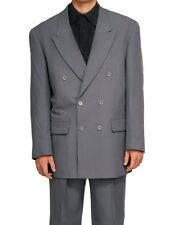 New Mens Double Breasted DB Gray Dress Suit Size 38R 38