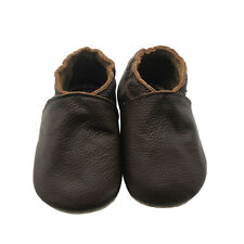 Sayoyo Baby Soft Sole Genuine Leather Toddler Infant Shoes Moccasins Dark Brown