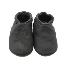 Sayoyo Baby Soft Sole Genuine Leather Toddler Infant Shoes Moccasins Dark Grey