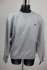 Champion Mens Super Crew Light Gray / Dark Gray C Pullover Crew Neck Sweatshirt