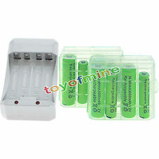 4x AA 3000mAh+4x AAA 1800mAh 1.2V NI-MH Rechargeable Battery+2xCase+Charger