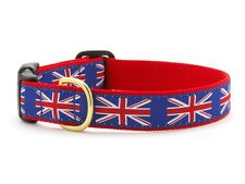 Any Size - UP COUNTRY - Made In USA - Design Dog Collar - UNION JACK