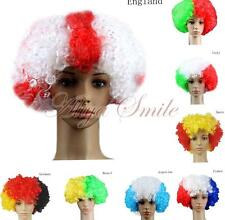 world cup Soccer Fans Games Supplies Afro Wigs Fancy Dress Costume Cosplay New