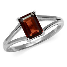 1.28ct. Natural Garnet 925 Sterling Silver Solitaire Ring