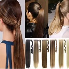 AU Clip in Straight Ponytail Hair Extensions Human Made AA Natural Hairpiece VG2