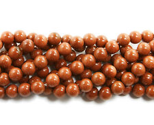 Brown Goldstone Round Beads~Guaranteed
