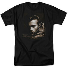 James Dean Brown Leather Icon Actor Movie T-Shirt Tee