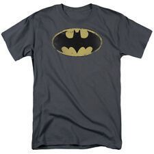 Batman Distressed Logo Shield DC Comics Superhero T-Shirt Tee