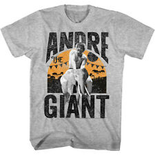 Andre The Giant Eighth Wonder Of World Adult T-Shirt Tee WWE 80s Elephant Ride
