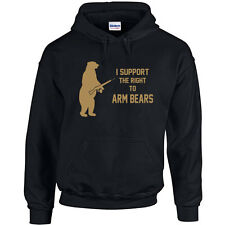 054 Right to Arm Bears Hoodie animal lover gun rights funny activist new vintage