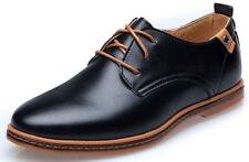 New Mens Casual Dress Formal Oxfords Flats Shoes Pointed Toe Lace Up Shoes Men