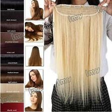 One Piece 100% Human Hair Clip In Long Length Remy Human Hair Extensions USHQ412