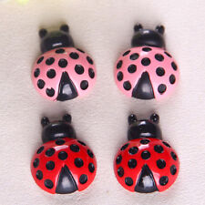 10pcs Red Pink Ladybug Resin Flatback Hair Accessories DIY Craft Decoration