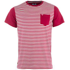 Mens Weekend Offender Birch Stripe T-Shirt In Berry Designer T-Shirt For Men