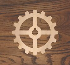 Crafting Supplies -- Set of 5 Wooden gears Unfinished Laser Cut Wood A003