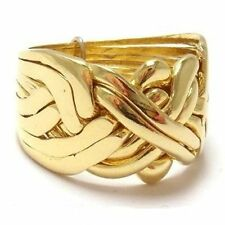8 Band 9 kt Solid Gold Turkish Puzzle Ring - Sizes 4 - 11 including half sizes