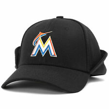 Miami Marlins New Era Downflap 39THIRTY Flex Hat - Black - MLB