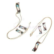Enamel Long Chains Necklaces Pendants Fashion Jewelry Rectangular Earring Studs