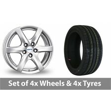 "4 x 14"" Alutec Blizzard Silver Alloy Wheel Rims and Tyres -  185/60/14"
