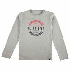 Quiksilver Kids Crafty T Shirt Junior Boys Ribbed Long Sleeve Crew Neck Tee