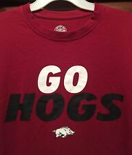 New NCAA Mens T-shirt College Tee Shirt ARKANSAS RAZORBACKS Red Size Medium HOGS