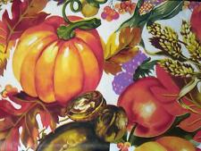FALL HARVEST INDIAN CORN VINYL TABLECLOTH~Flannel Back~ALL SIZE~Thanksgiving~NEW