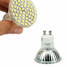 White 220V 5W Power Spot Light NEW High 60 LED GU10 3528 SMD Lamp Bulb 6500K