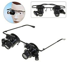 New Design Binocular Glasses Type 20X Watch Repair Magnifier with LED Light