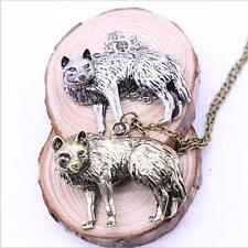 Charm Necklace Long Chain Vintage Retro Occident Men New Pendant Jewelry Wolf