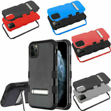 For ZTE Warp 7 IMPACT Hard Protector Rubber Kickstand Case Phone Cover
