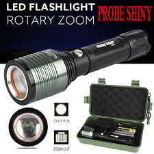 Zoomable 3000Lm CREE XML Q5 LED 18650 Bright Flashlight Military Torch Lamp UK