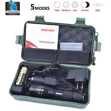 X800 8000Lm XML T6 LED Zoomable Tactical Flashlight Torch 18650 Battery Charger