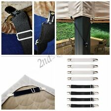 Crisscross Adjustable Bed Fitted Sheet Straps Suspenders Gripper Holder Fastener